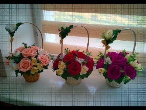DIY БУКЕТЫ из КОНФЕТ/как оформить корзину роз своими руками/BOUQUETS OF CANDY / Paper Roses