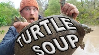Catch And Cook Giant Soft Shell Turtle Day 11 Of 30 Day Survival Challenge  Texas