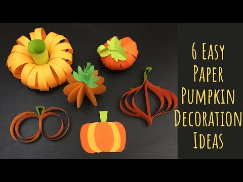 Paper Pumpkin/ Paper Vegetable Project Crafts For Kids/ Paper Crafts For School/ Halloween Crafts