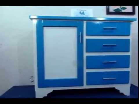 MueblesComoda Para Bebs 1Puerta 4Cajas Azulblanco