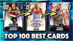 TOP 100 BEST CARDS IN NBA 2K20 MyTEAM!!