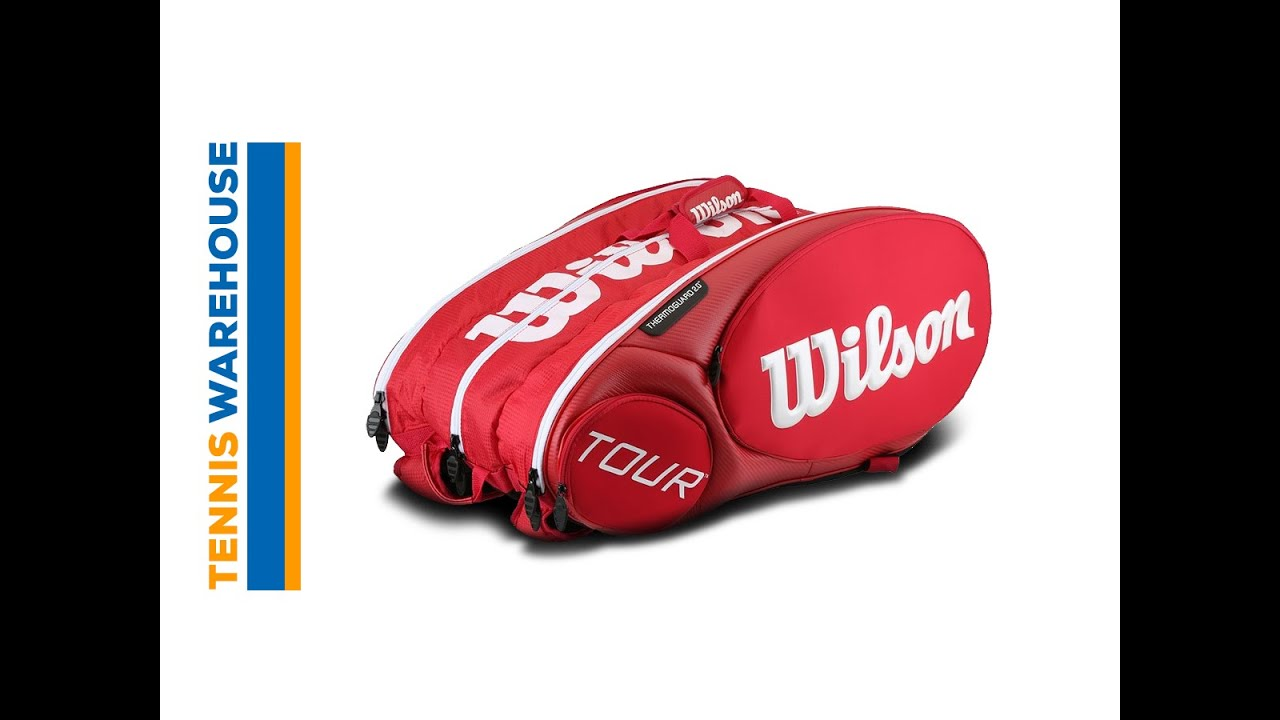Wilson Tour Molded 2 0 Red 15 Pack Bag Tennis Warehouse