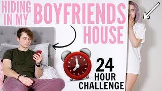 I Spent The Night In My BOYFRIENDS HOUSE & He Had No Idea... (24 Hour Challenge) | Sophie Louise
