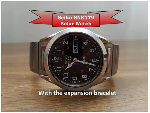 A Great Solar Watch! The Affordiable Seiko SNE179