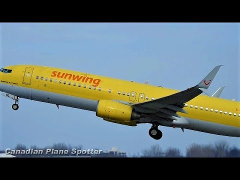 (old TUI livery!) Sunwing 737-800 Departing Montreal-Trudeau Int'l Airport
