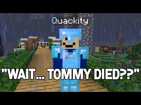 Quackity reacts to TommyInnit DEATH on DreamSMP - DreamSMP 4 LIFE