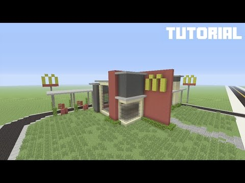 Minecraft Tutorial: How To Build McDonalds W/ Drive Thru (Restaurant)