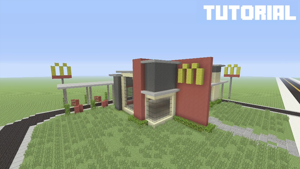 Minecraft Tutorial How To Build Mcdonalds W Drive Thru