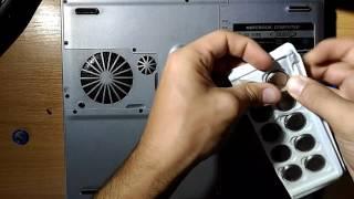 замена батарейка CR2032 в ноутбуки. Сброс времени при включении
