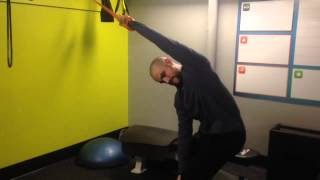 band and trx shoulder stretches