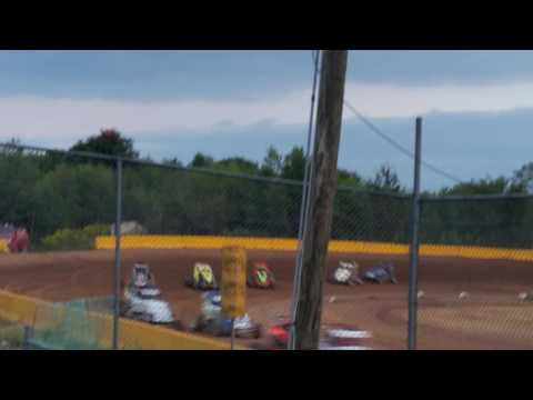 Ryan Quackenbush Hamlin speedway Sept 17th 2016 final heat of season