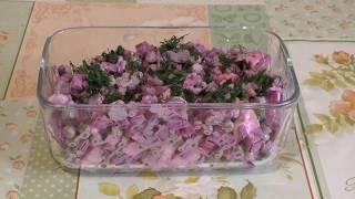 Салат с горошком и свеклой