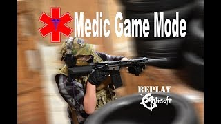 Medic airsoft arena game footage