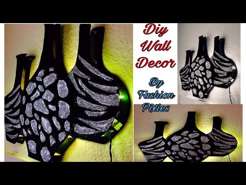 wall decoration ideas | glitter paper decoration | Fashion pixies | glitter paper crafts