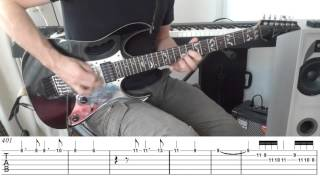 Neo-Classical Electric Guitar Solo Playthrough | With Tab |  (from 'The Face of Corruption')