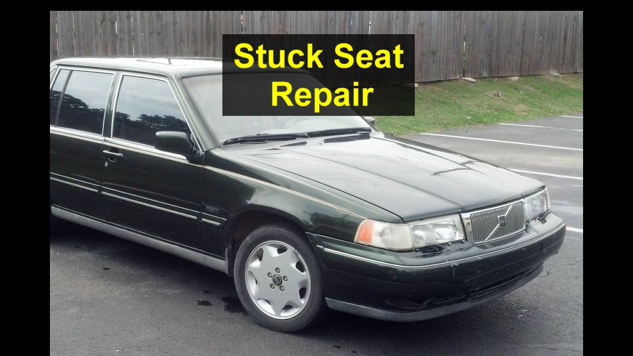 Power Seat Stuck Binding One Side Forward Back Travel Volvo 960 S90 V90 Votd Youtube
