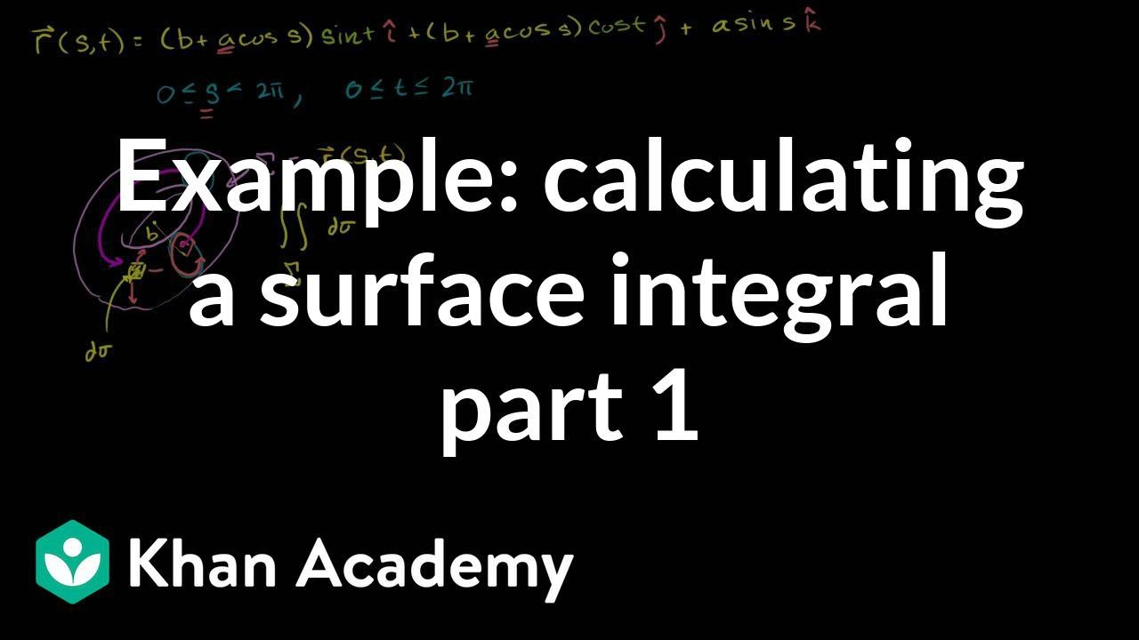 Example of calculating a surface integral part 1 multivariable example of calculating a surface integral part 1 multivariable calculus khan academy youtube ccuart Gallery