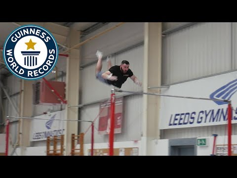 Farthest backflip between horizontal bars - Guinness World Records