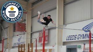 Farthest backflip between horizontal bars - Guinness World Records