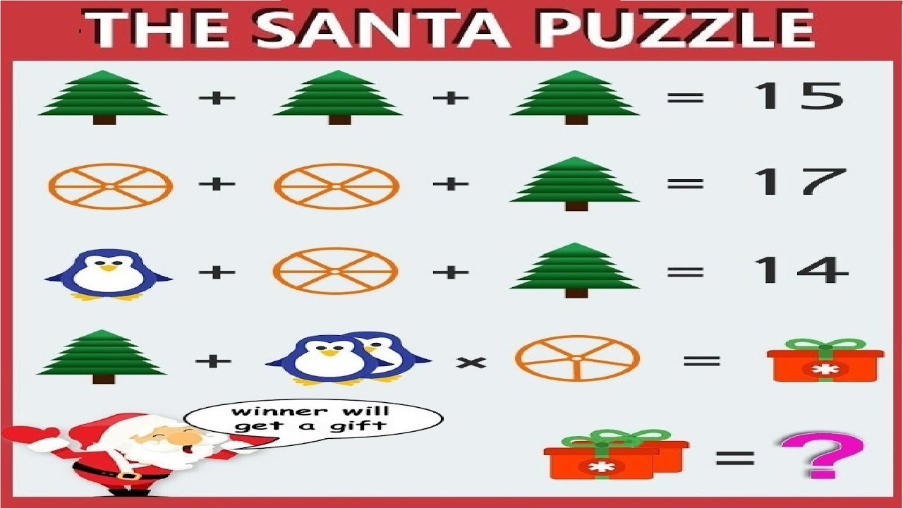 The Santa Puzzle Answer Christmas Puzzle Questions With Answers Youtube