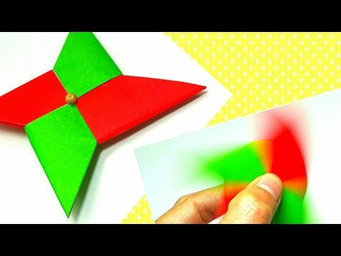 How to fold an Easy Origami Fidget spinner - DIY