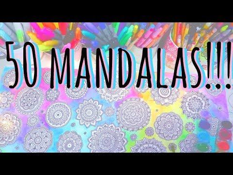 Dibujando mas de 50 mandalas!!!  ♡ Dani Hoyos Art