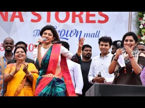 Oviya in Chennai OMR   Full live video | SARAVANA STORES OPEN CEREMONY