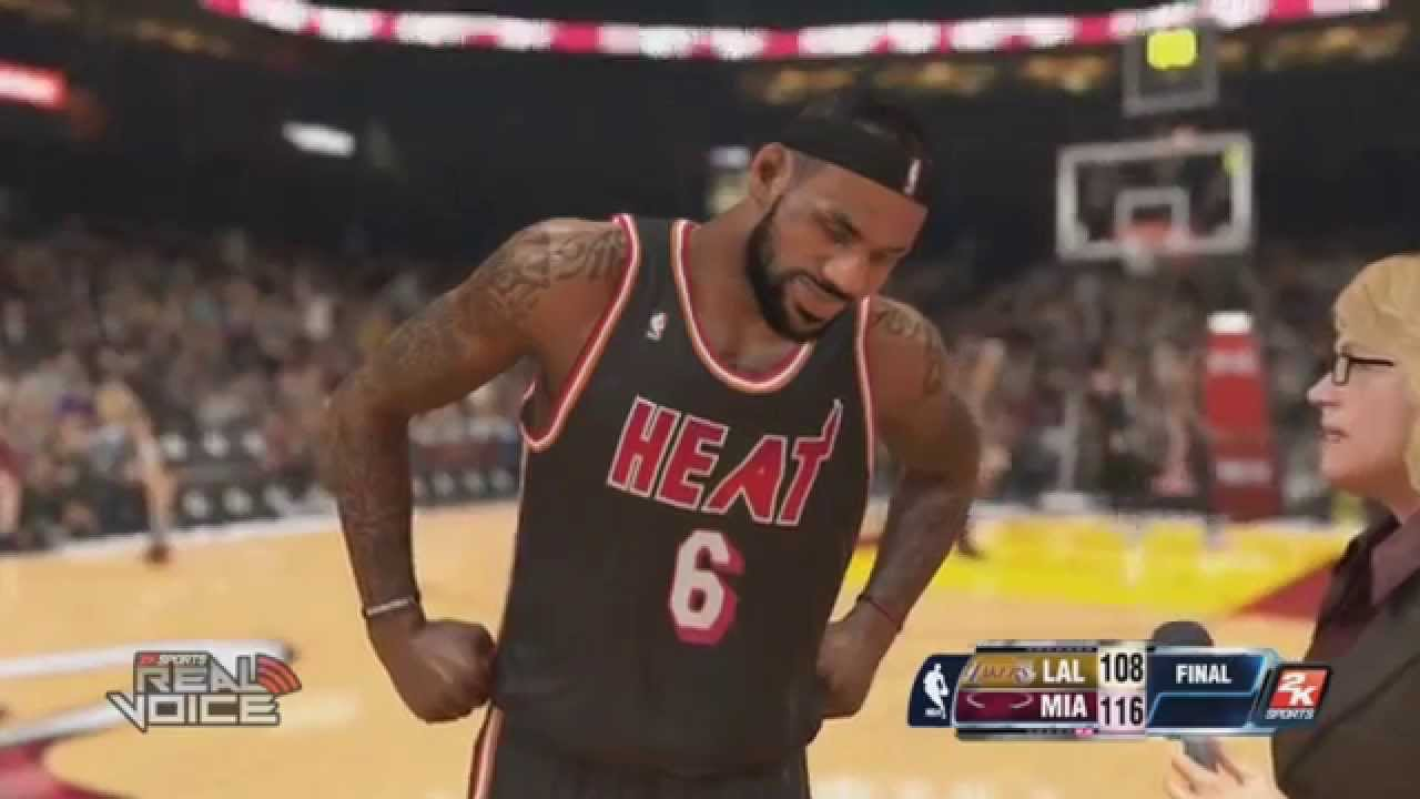 NBA 2K14 PS4 LeBron James Highlights VS