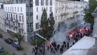 #welcometohell Schwarzer Block Riot in der Elbchaussee