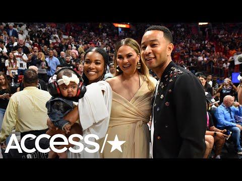 Dwyane Wade Crashed Into Chrissy Teigen & John Legend At A NBA Game   Access Mp3