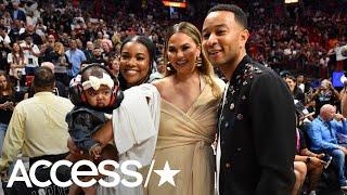 Dwyane Wade Crashed Into Chrissy Teigen & John Legend At A NBA Game | Access
