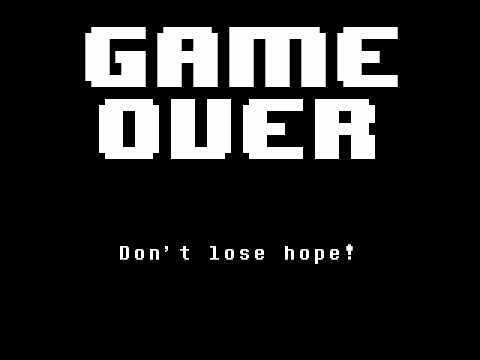 Undertale - Determination (Game Over) at ingame speed