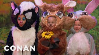 "An EXCLUSIVE Sneak Peek At ""Bambi: Live!"" - CONAN on TBS"