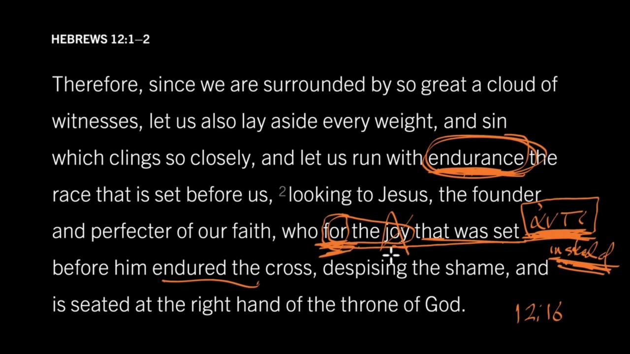 Hebrews 12:1—2 // For the Joy Set Before Him