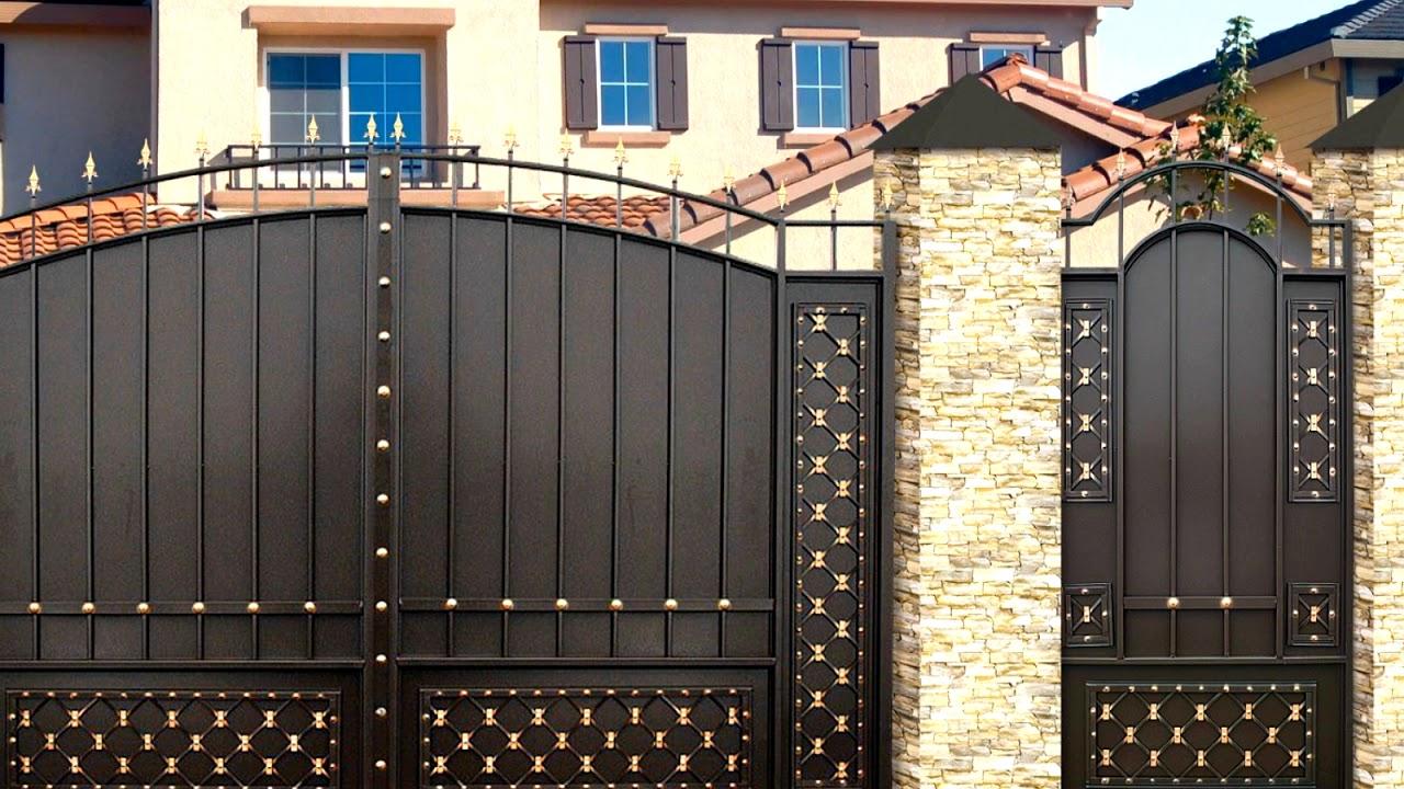 Ворота и калитки для частного дома картинки