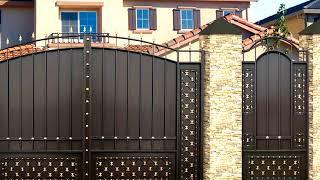 видео Металлические ворота с калиткой: фото