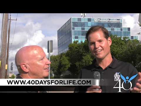 40 Days for Life: Rep. Kevin Brady talks with Shawn Carney
