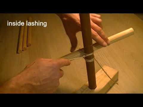 How to make a square lashing. | DIY | wood & rope