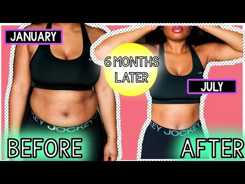 6 MONTH WEIGHT LOSS UPDATE!! How Does My Body Look So Far?! ? SIDE BY SIDE COMPARISON! thumbnail