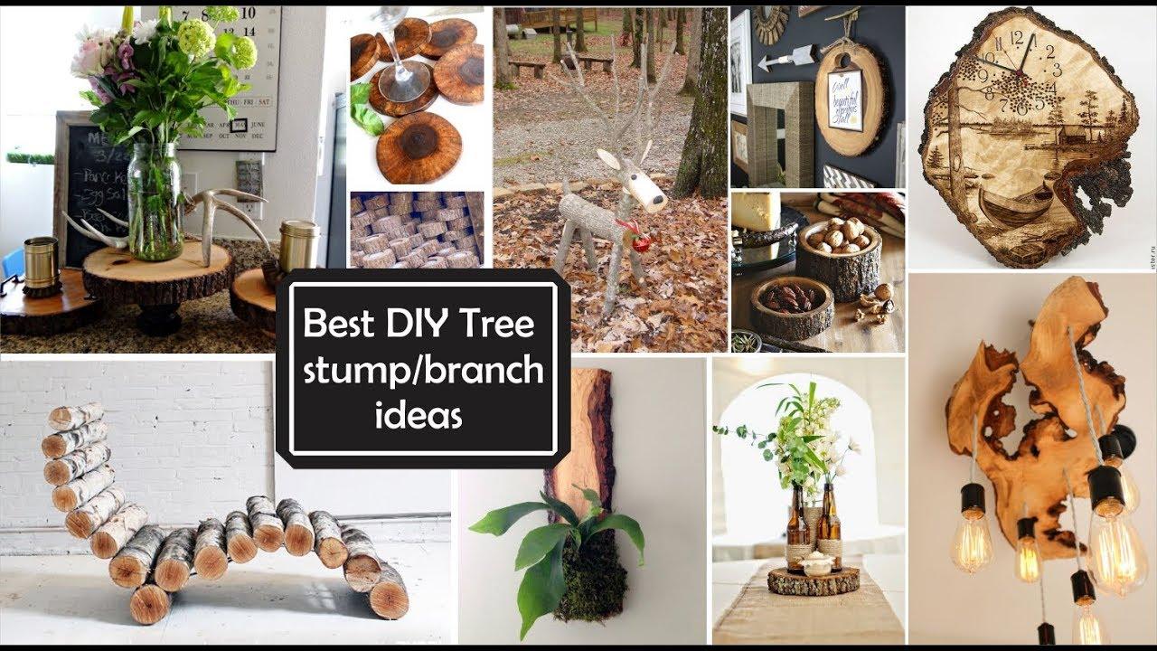 Ideas De Decoración Con Ramas Y Troncosbest Diy Tree Stumpbranch Ideas
