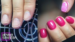 Маникюр (Короткие ногти) 🍊 Работаем с проблемной кожей