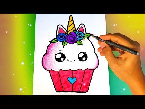 Как нарисовать милый КЕКС ЕДИНОРОГ? Лёгкие рисунки для начинающих Рисунки для срисовки