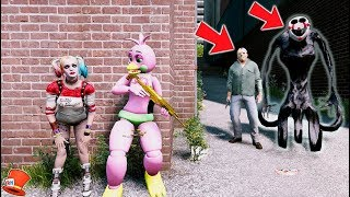 CAN THE ANIMATRONICS & HARLEY QUINN HIDE FROM REAPER PUPPET & JASON? (GTA 5 Mods For Kids FNAF)