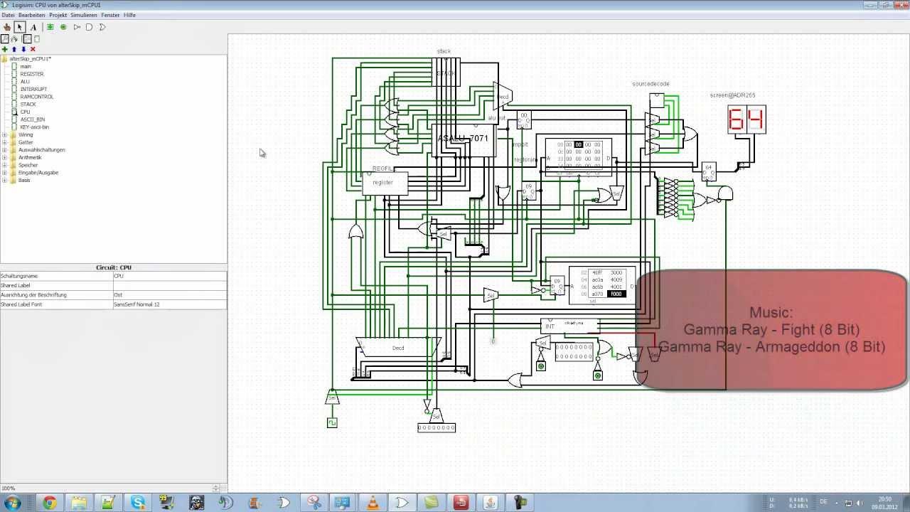 Processor As Mcpu1 Logisim Selfmade Cpu Assemblytranslator Circuit Diagram Bilingual Hd Youtube