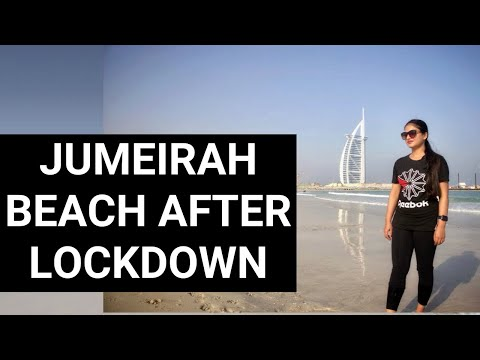 Jumeirah Beach after Lockdown | Dubai beaches post-pandemic | Weekend at Jumeirah Beach Dubai 🌊