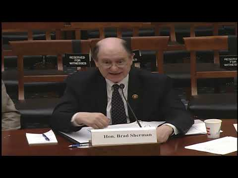 Rep  Brad Sherman Testifies on the Future and Dangers of Artificial Intelligence