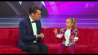 �������� ���� The smartest 5-year girl from Malta on Russian TV show Little big shots ������