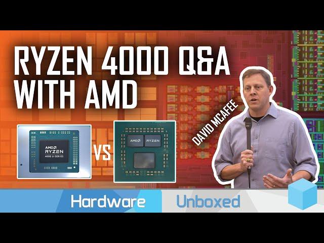 Navi vs Vega? Monolithic vs Chiplet? Intel Competition? AMD Answers Ryzen Mobile 4000 Questions