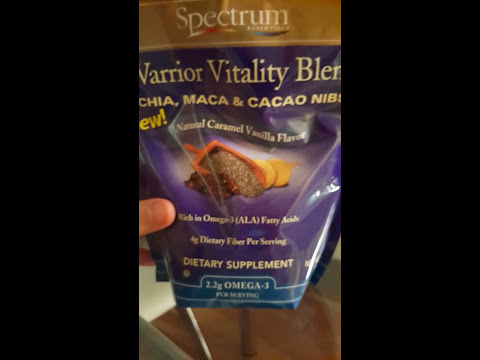 Review Spectrum Warrior Vitality Blend China Mac Cacao nibs