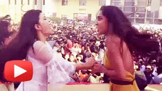 CATFIGHT! Jacqueline Fernandez-Lisa Haydon CAUGHT ON CAMERA